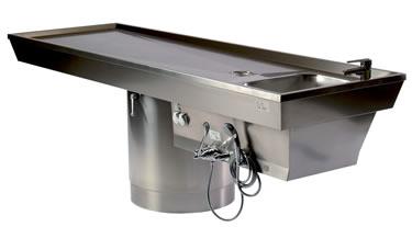 -180° ROTATING AUTOPSY TABLE-